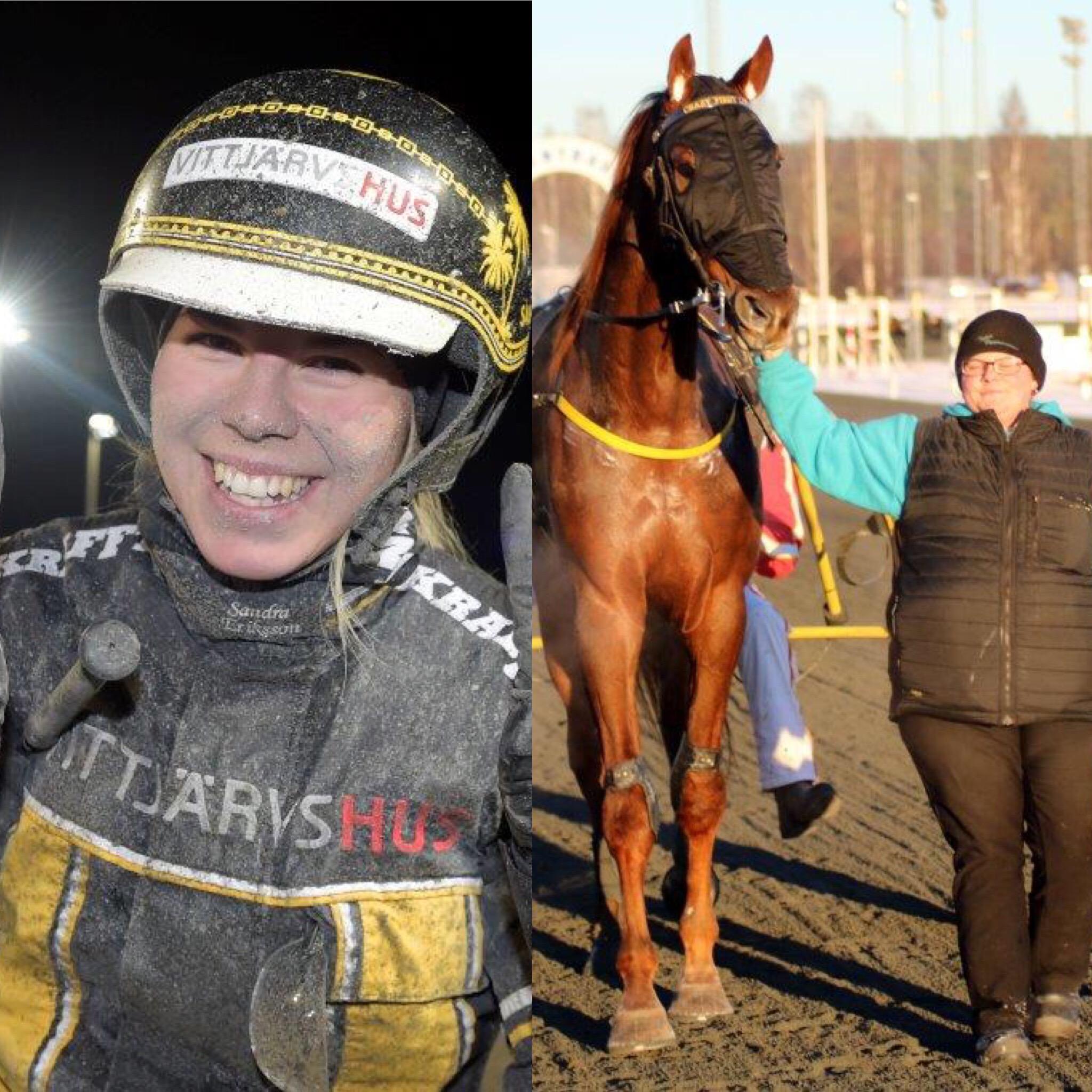 V75-seger för Sandra och andra raka för Wiksténs talang!